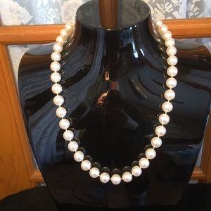 """Beaded 22"""" White Vintage Necklace"""